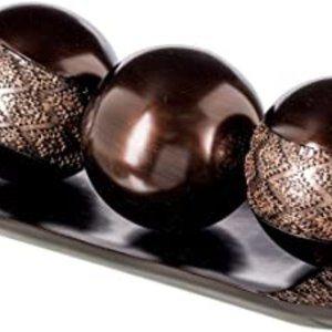 Dublin Home Decor Tray and Orbs Balls Set of 3 - C
